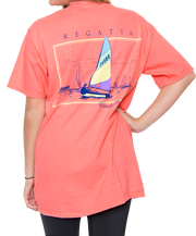 Southern Shirt Co. - Petit Bois Regatta Short Sleeve Tee Pink Salmon Back