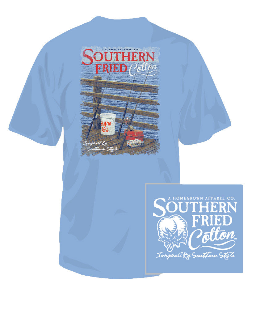 Southern Fried Cotton - Youth Pier Fishing Tee