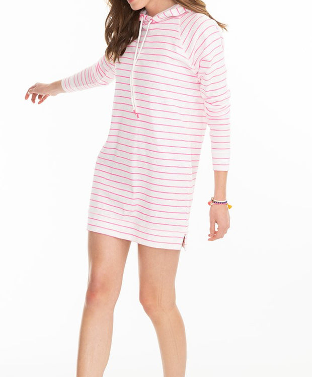 Southern Tide - Ocean Front Striped Tunic Hoodie