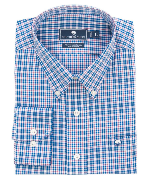 Southern Shirt Co - Pintail Plaid Cotton Club Shirt Long Sleeve