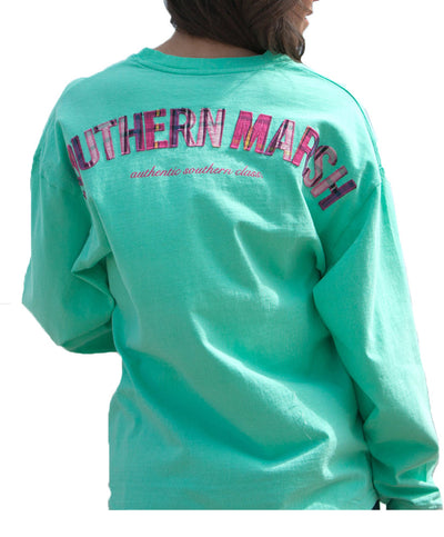Southern Marsh - Rebecca Plaid Jersey - Bimini Green Back