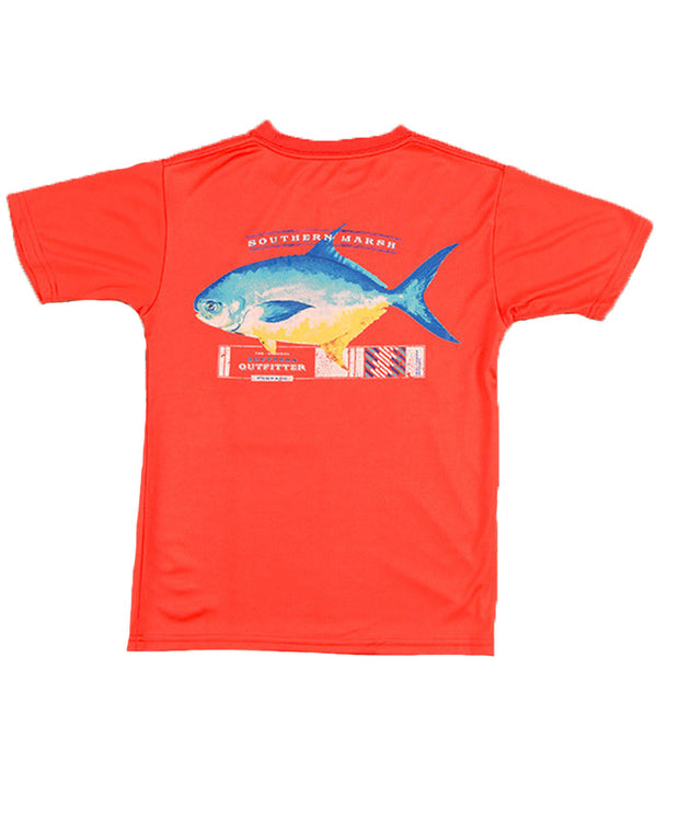 Southern Marsh - Youth FieldTec Pompano T-Shirt - Coral