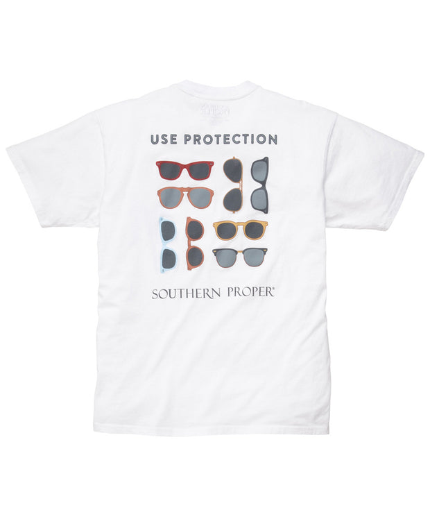 Southern Proper - Use Protection Tee - White