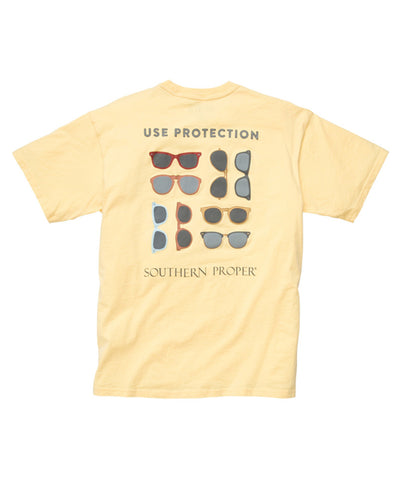 Southern Proper - Use Protection Tee - Yellow