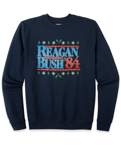 Rowdy Gentleman - Reagan Bush '84 Holiday Crew Neck Sweatshirt