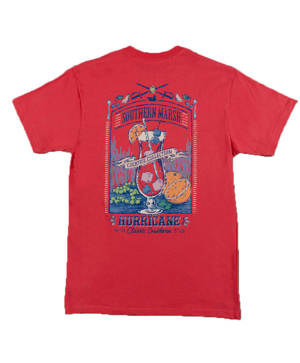 Southern Marsh - Cocktail Collection Tee: Hurricane - Red Back
