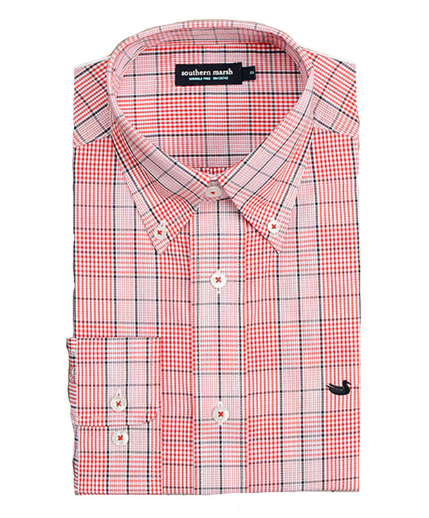 Southern Marsh - Sutton Plaid: Wrinkle Free - Red/Black