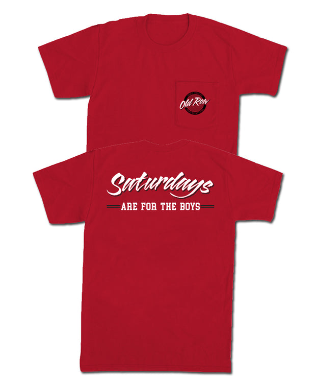 Old Row - Saturdays are for the Boys Pocket Tee
