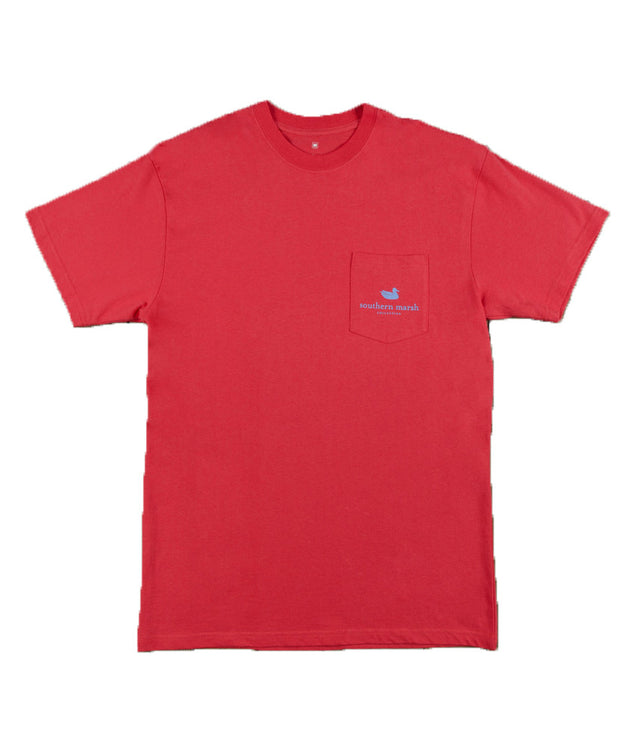 Southern Marsh - Cocktail Collection Tee: Hurricane - Red Front