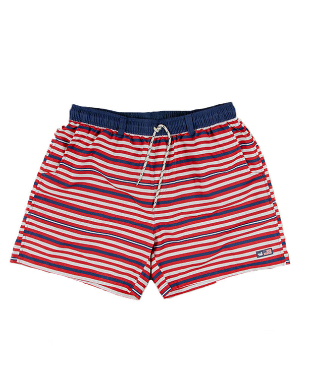 Southern Marsh - The Dockside Swim Trunk - Red, White, Blue