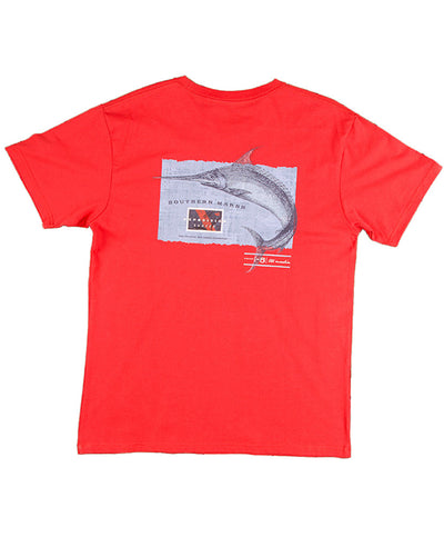 Southern Marsh - Expedition Series: Marlin Short Sleeve Tee - Red