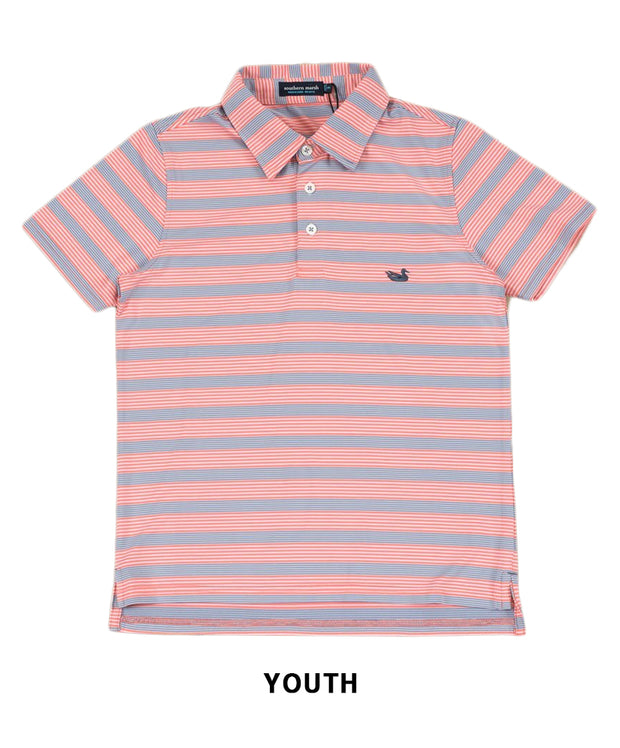 Southern Marsh - Youth Bermuda Pensacola Stripe Polo