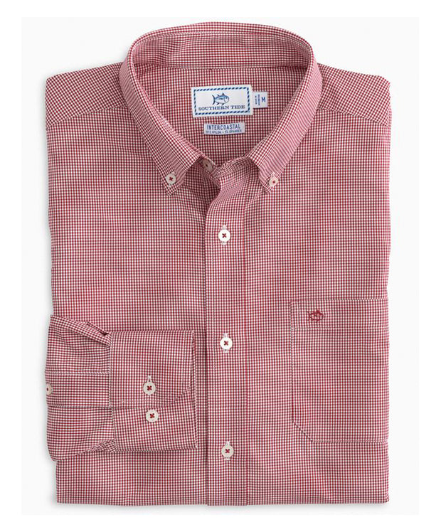 Southern Tide - Micro Gingham IC Performance Sportshirt