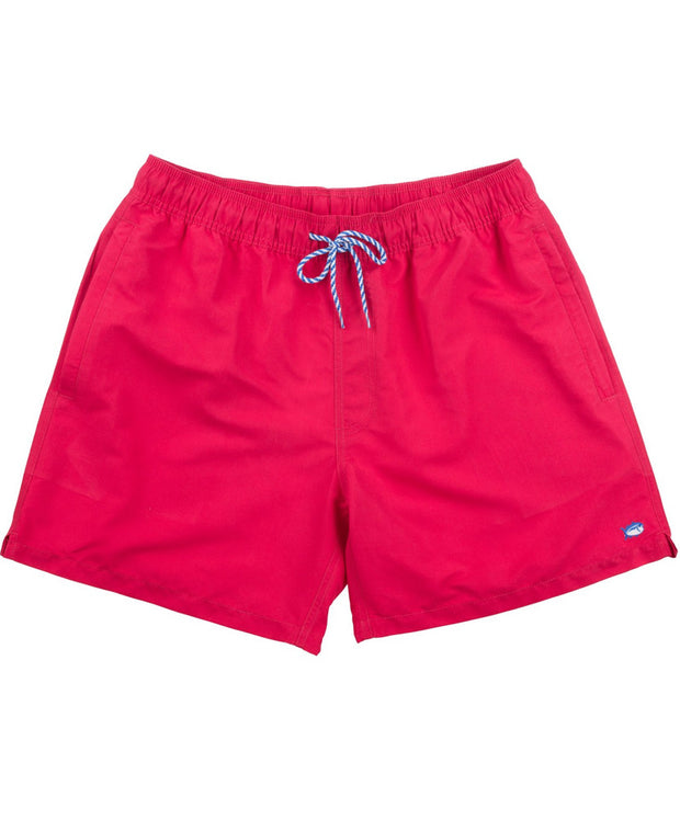 Southern Tide - Weekend Swim Trunk - Channel Marker Red
