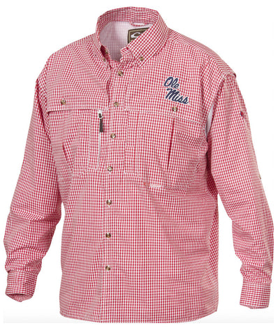 Drake - Long Sleeve Ole Miss Game Day Wingshooter's Shirt