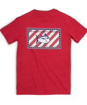 Southern Tide - Youth Independence Tee - True Red Back
