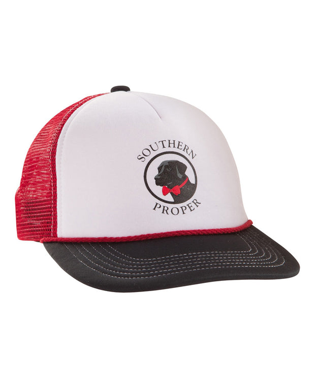 Southern Proper - Trucker Hat - Black/White/Red