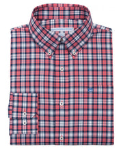 Southern Tide - Sonar Plaid Sport Shirt - Coral Beach
