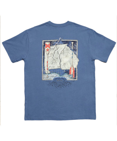 Southern Marsh - River Routes Collection - Alabama & Georgia Tee