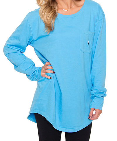 Southern Shirt Co. - Kimmy Boatneck Long Sleeve - Riviera Blue