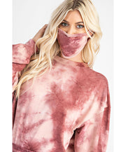 Living Life Tie Dye Sweatshirt With Mask