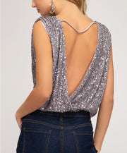 Pop The Champagne Sequin Top