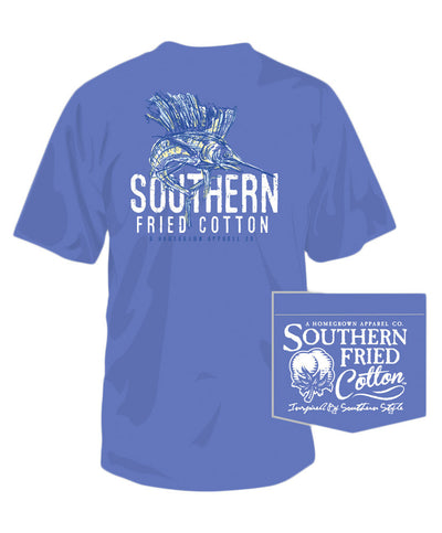 Southern Fried Cotton - Southern Sail Fish Tee