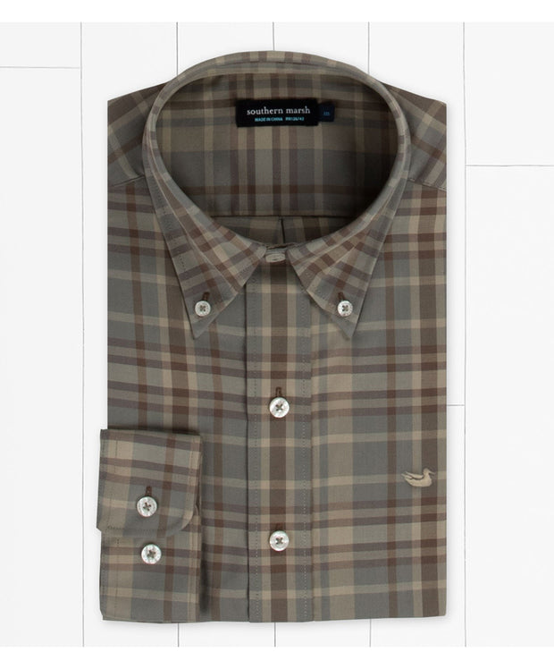 Southern Marsh - Blanco Plaid Dress Shirt