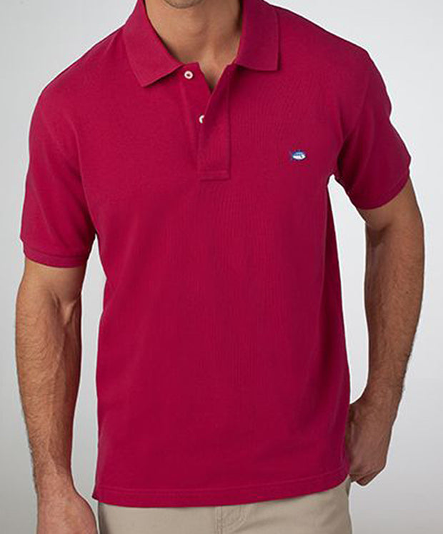 Southern Tide - Classic Skipjack Polo - Sangria