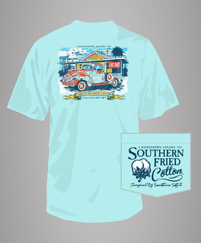 Southern Fried Cotton - Sea Truck Pocket Tee