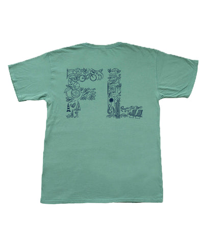 The State Company - FL State Initials Montage Tee