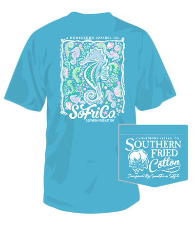 Southern Fried Cotton - Seahorsin' Around Tee