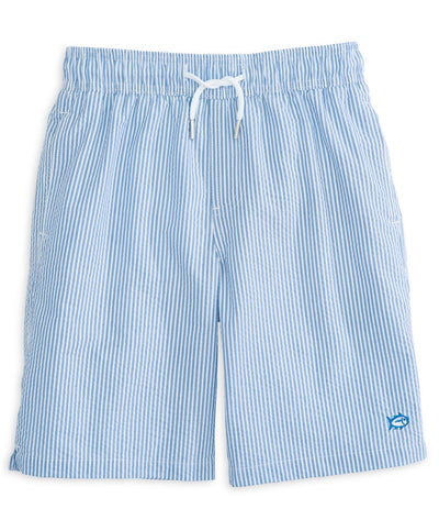 Southern Tide - Boys Seersucker Swim Trunk