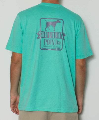 Southern Point - Glow in The Dark Short Sleeve Tee - Emerald/Blue Back
