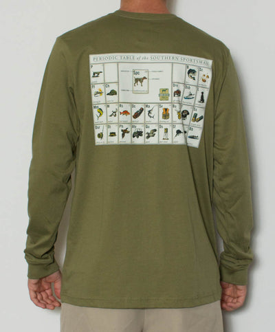 Southern Point - Periodic Table: Southern Sportsman L/S - Back