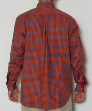 Southern Point - Hadley Long Sleeve Button Down - Blue/Orange Check - Back