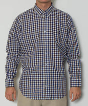 Southern Point - Hadley Long Sleeve Button Down - Waterfowl Check - Front