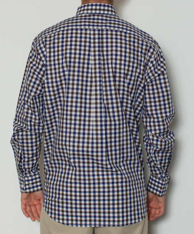 Southern Point - Hadley Long Sleeve Button Down - Waterfowl Check - Back