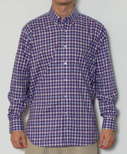 Southern Point - Hadley Long Sleeve Button Down - Sunrise - Front