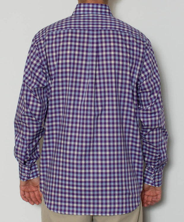Southern Point - Hadley Long Sleeve Button Down - Sunrise - Back