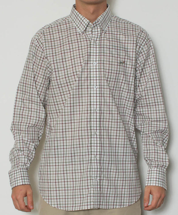 Southern Point - Hadley Long Sleeve Button Down - Mallard Pane - Front