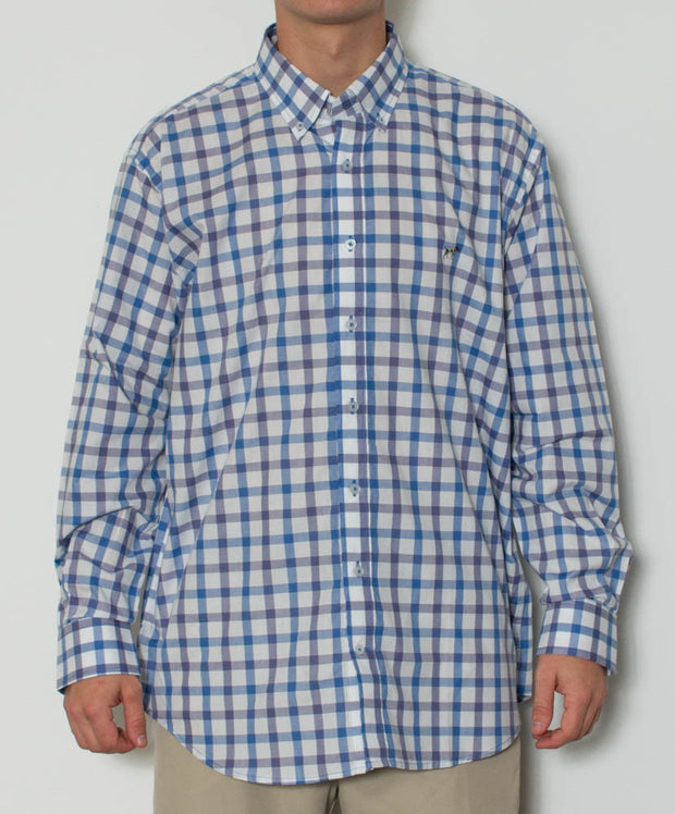 Southern Point - Hadley Long Sleeve Button Down - Lowtide - Front
