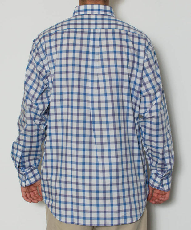 Southern Point - Hadley Long Sleeve Button Down - Lowtide - Back