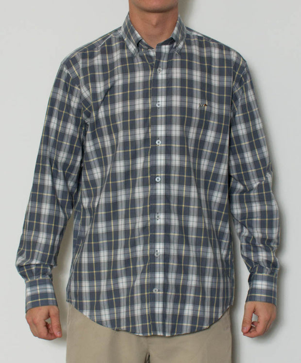 Southern Point - Hadley Long Sleeve Button Down - Vintage Plaid - Front