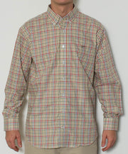 Southern Point - Hadley Long Sleeve Button Down - Marshland Plaid - Front