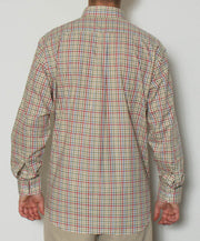 Southern Point - Hadley Long Sleeve Button Down - Marshland Plaid - Back