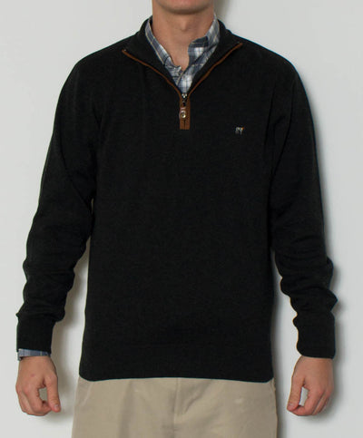 Southern Point - Hayward 1/4 Zip - Charcoal Front