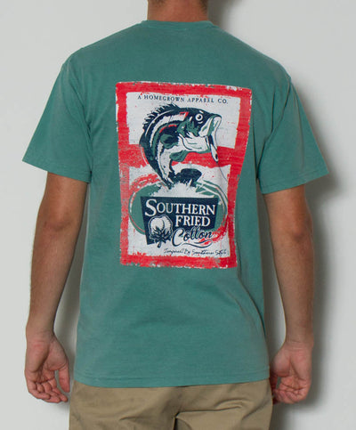 Southern Fried Cotton - Gone Fishin' S/S Pocket Tee Back