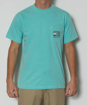 Southern Fried Cotton - Southern Gentleman S/S Pocket Tee - Chalky Mint Front
