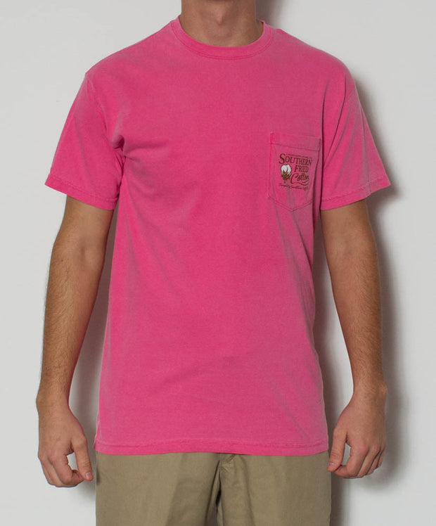 Southern Fried Cotton - Dog S/S Pocket Tee - Crunchberry Front